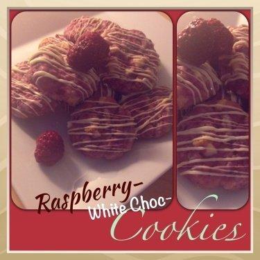 Raspberry & WhiteChoc Cookies
