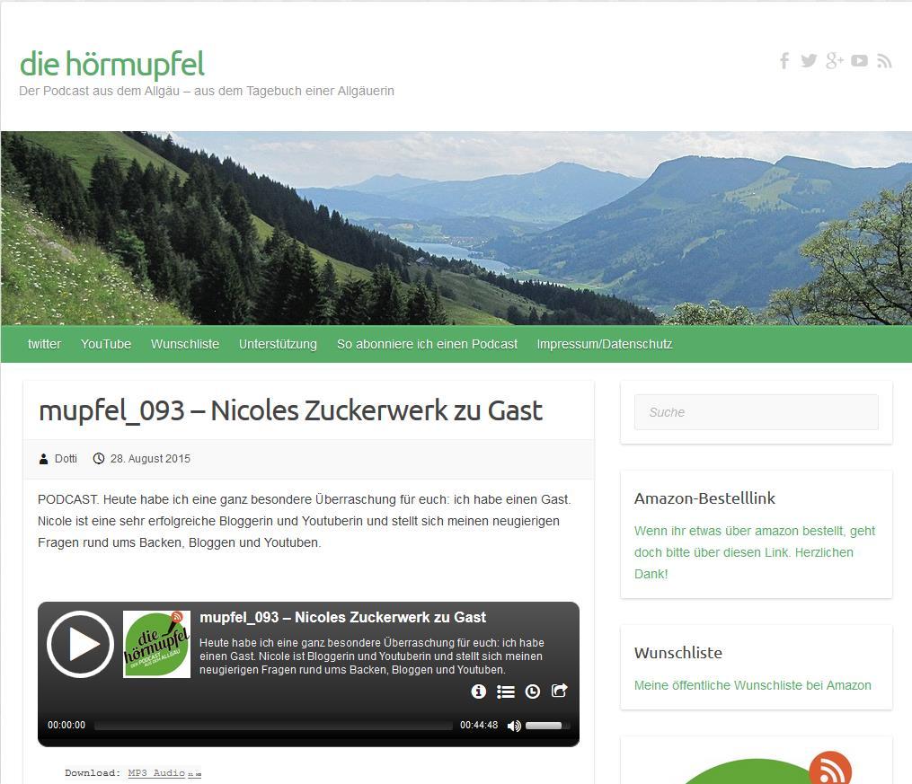 """Nicoles Zuckerwerk zu Gast bei """"die hörmupfel"""""""