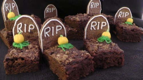 Brownie Gräber | Friedhof Cookies | Halloween-Special