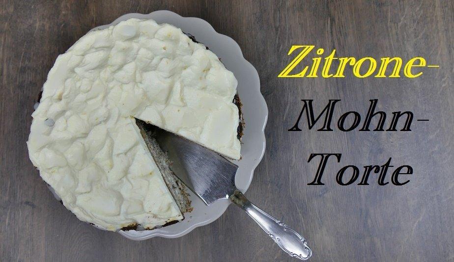 Zitrone-Mohn-Torte