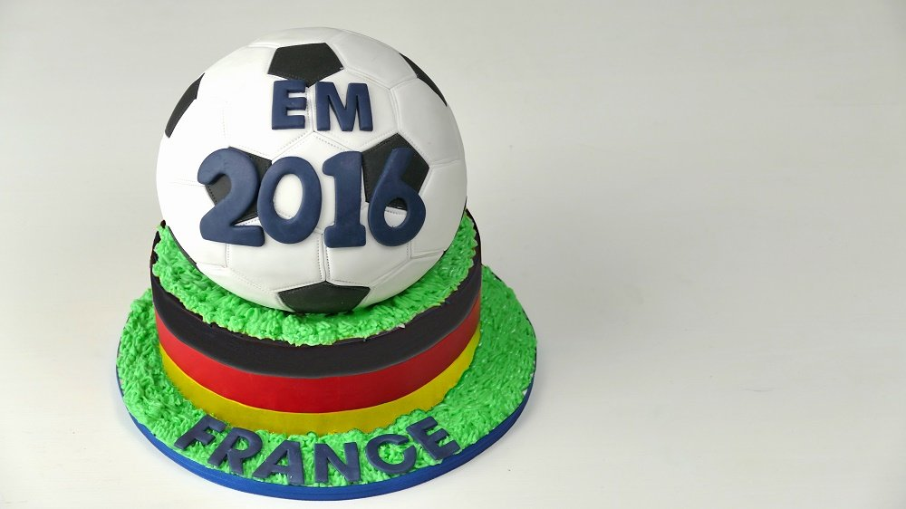 Fussballtorte zur EM 2016