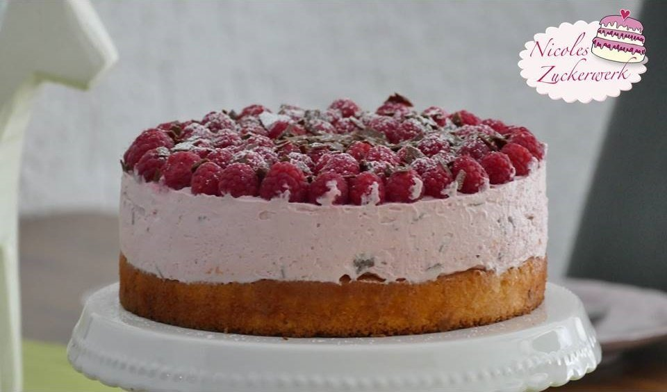 Himbeer-Frischkäse-Torte | leckere und nicht so süße Sommertorte