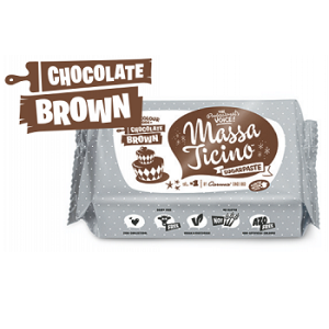 Nicoles Zuckerwerk Massa Ticino Tropical Fondant chocolate brown