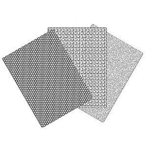 Nicoles Zuckerwerk dekofee Prägematten Set 2 Waben-Quadrate-Wolle