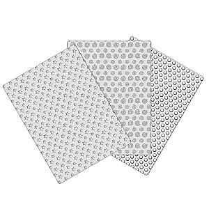 Nicoles Zuckerwerk dekofee Prägematten Set-3 Sterne-Spiralen-Kreise
