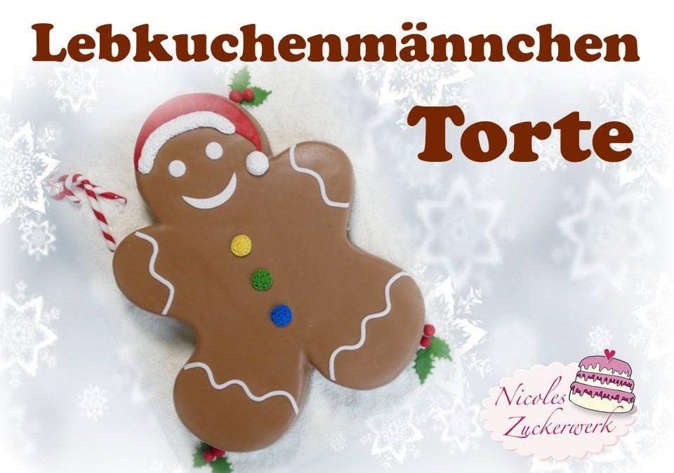 Lebkuchenmännchen Motivtorte | Gingerbread Man Cake
