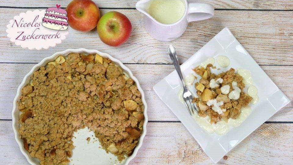 Bratapfel Crumble | lecker und schnell zubereitet