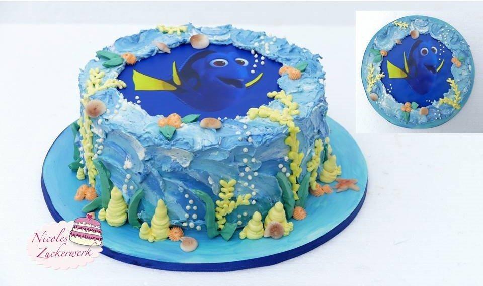Unterwasserwelt – Motivtorte | Dorie Torte mit Kirsch-Sahne-Füllung