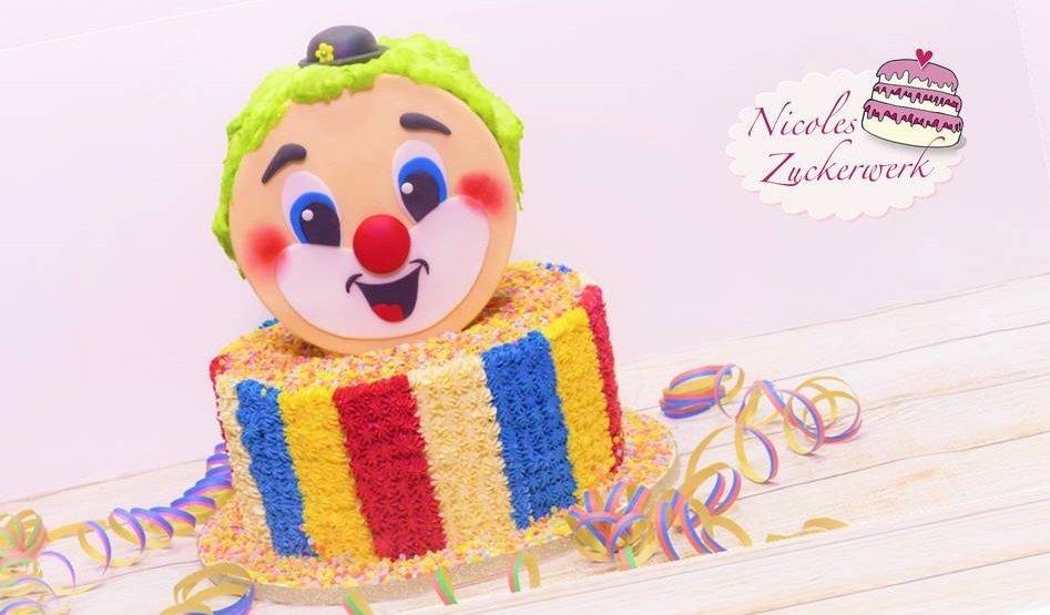 Clowns Torte zur närrischen Jahreszeit | Motivtorte Fastnacht Fasching Karneval