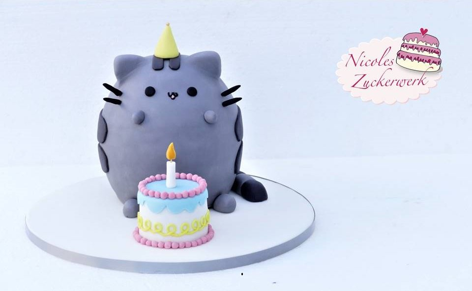 Pusheen the Cat Motivtorte