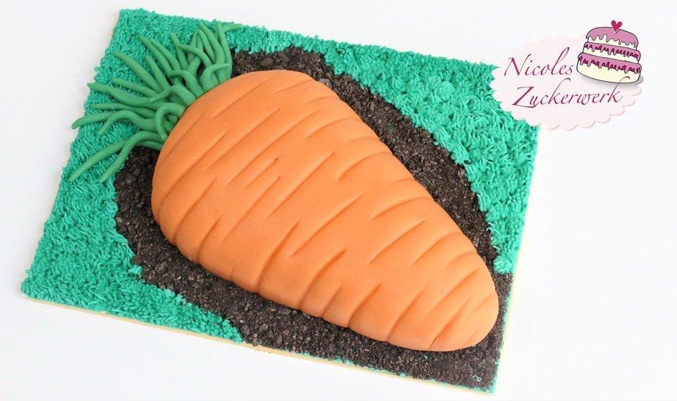 Rüblikuchen I Möhrenkuchen I Motivtorte mit Marzipan