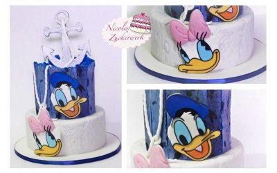 Donald & Daisy Duck Geburtstagstorte I Motivtorte