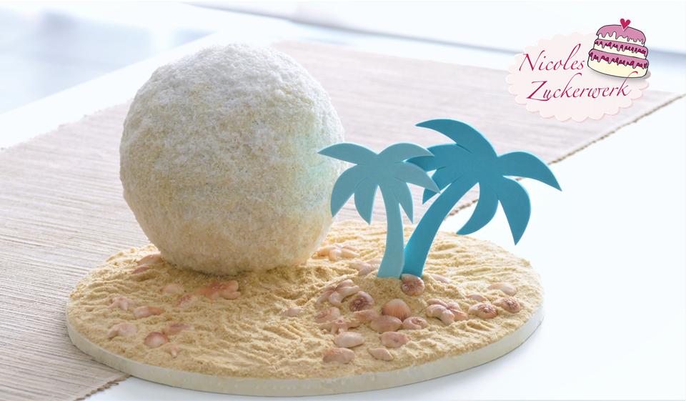 XXL Raffaelo Kugel Torte mit Kokos-Schoko-Buttercreme