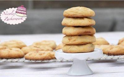 Karamell Cookies I softig weiche Cookies mit weichem Karamellkern
