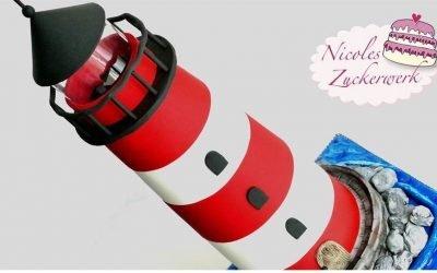 3D Leuchtturm Motivtorte