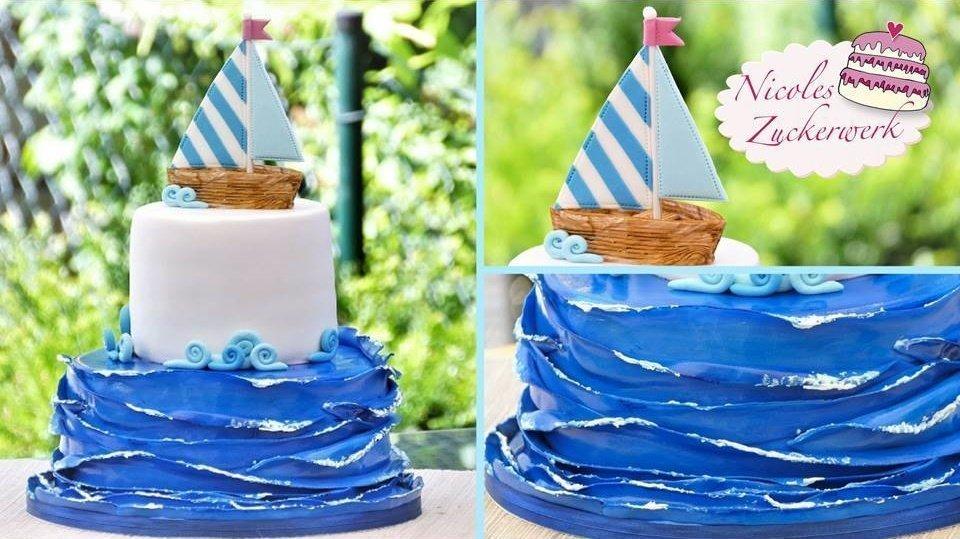 maritime Fondant-Torte I 2stöckige Motivtorte