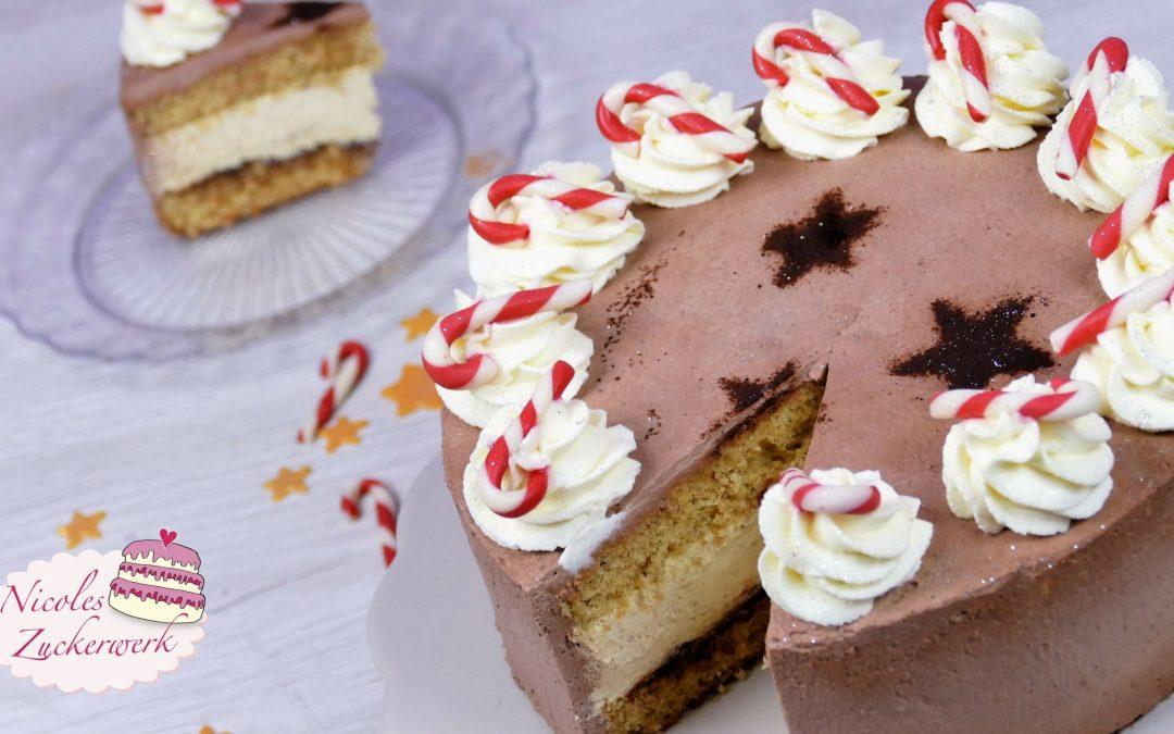 Zimt-Sahne-Torte mit Pflaumenmus