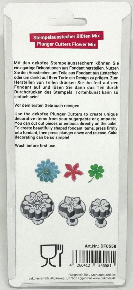 Nicoles Zuckerwerk dekofee Stempelausstecher Blueten Mix 3