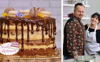 Seminaked Cake mit Schokodrip I Dripcake I Rezept von Patrick, dem Gewinner vom Grossen Backen 2017