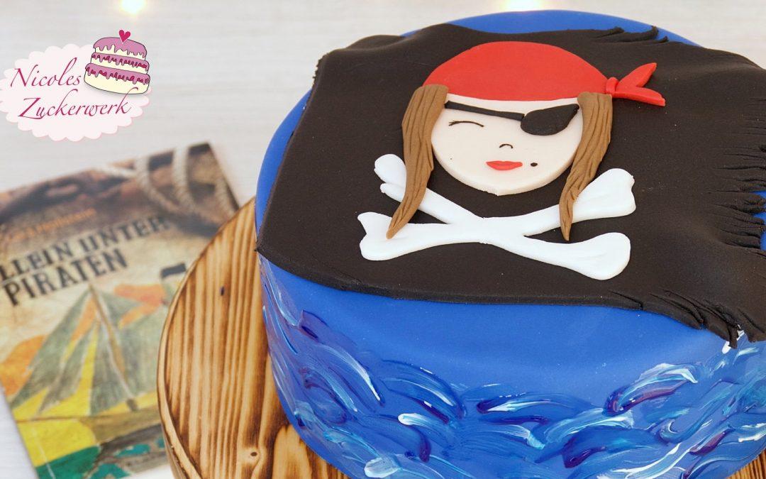 """Piraten Torte I einfache Motivtorte nach dem Buch """"Allein unter Piraten"""" von Lara Hollstein"""