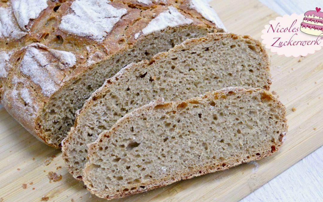 Mischbrot mit Sauerteig I Brot einfach selbst backen