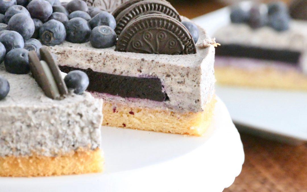Oreo Torte mit Blaubeeren