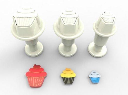 Nicoles Zuckerwerk dekofee Stempelausstecher mini Cupcake