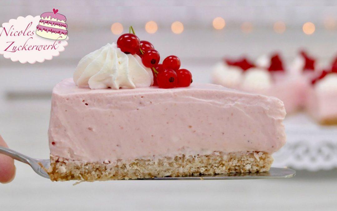 Johannisbeer-Joghurt-Torte I sommerlich, lecker I ohne weißen Zucker und helles Mehl