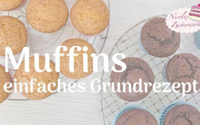 Muffins – einfaches Grundrezept I Schoko und Vanille