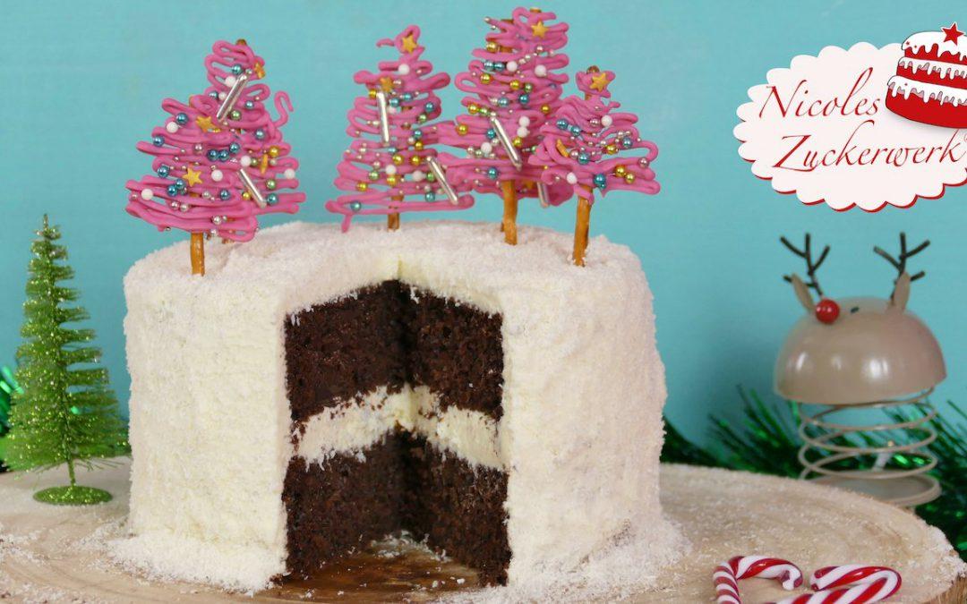 anfängerfreundliche Schoko-Kokos-Torte für Weihnachten