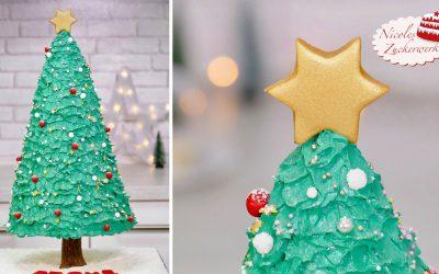 3D Weihnachtsbaum Torte
