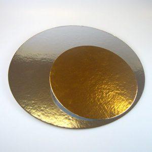 Nicoles Zuckerwerk Tortenpappe Tortenunterlage silber / gold