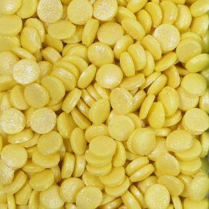 Nicoles Zuckerwerk Konfetti Metallic Gelb Tortendekoration