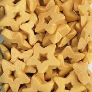 Nicoles Zuckerwerk Offene Sterne gold Tortendekoration