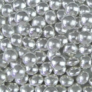 Nicoles Zuckerwerk Zuckerstreusel Schokodragees Metallic Silber