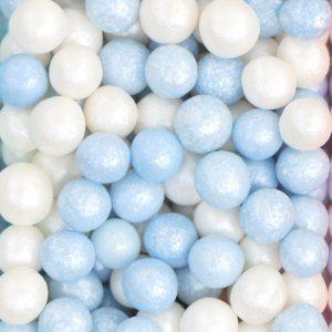 Nicoles Zuckerwerk Streuselbox Softperlen blau weiss