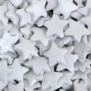 Nicoles Zuckerwerk Zuckerstreusel Sterne Silber