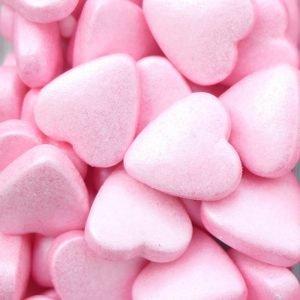 Nicoles Zuckerwerk Zuckerherzchen Rosa