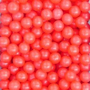 Nicoles Zuckerwerk Zuckerperlen glänzend rot 4mm