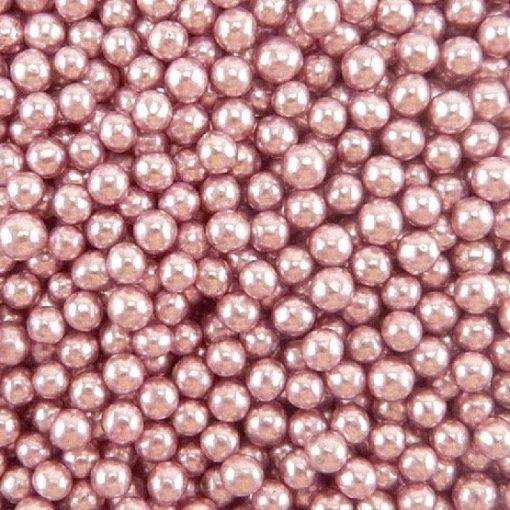 Nicoles Zuckerwerk Zuckerperlen Metallic Pink 4mm