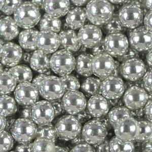 Nicoles Zuckerwerk Zuckerperlen Metallic Silber 8mm