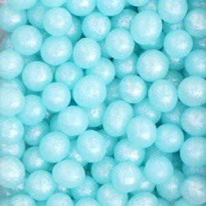 Nicoles Zuckerwerk Zuckerperlen Perlmutt Blau 4mm