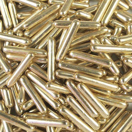 Nicoles Zuckerwerk Zuckerstäbchen Metallic Hellgold XL