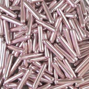 Nicoles Zuckerwerk Zuckerstäbchen Metallic Pink XL