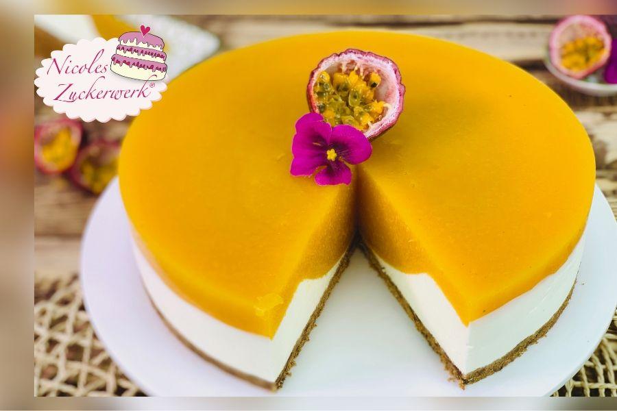 Pfirsich-Maracuja No Bake Torte