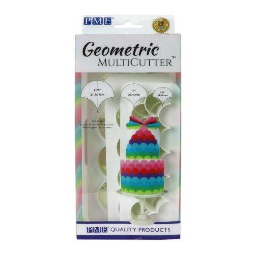 Nicoles Zuckerwerk PME Geometric Multicutter 3er Set Fischschuppen