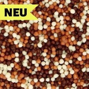 Nicoles Zuckerwerk Streuselbox Mini Schokoladen Knusperperlen Mix Dekoration