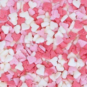 Nicoles Zuckerwerk Streuselbox Zuckerstreusel Miniherzen Rosa Weiss Rot