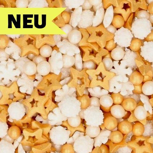 Nicoles Zuckerwerk Streuselbox Zuckerstreusel Sprinkles Medley Gold
