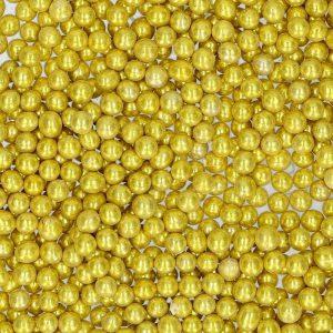 Nicoles Zuckerwerk Streuselbox Zuckerstreusel Zuckerperlen Metallic Gold